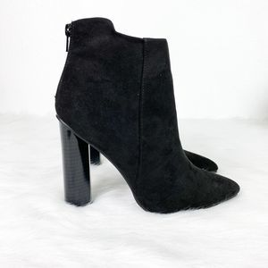Qupid Parma Soft Suede Heel Pointed Toe Booties